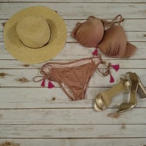 Shade & Shore Mauve Pink Bikini Set XL/